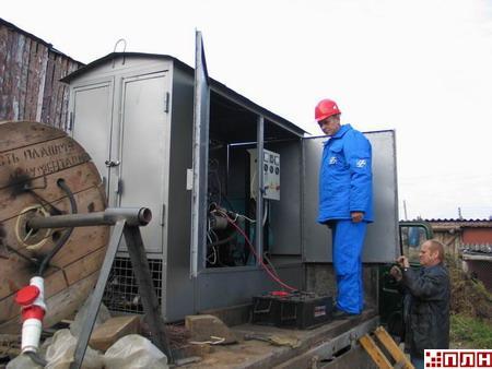 Псковские энергетики в Тямше отработали схему подключения резервного электроснабжения газовой котельной.