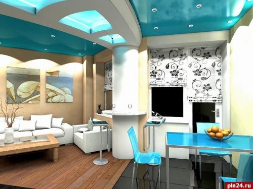Дизайн проект комнаты 17 кв.м