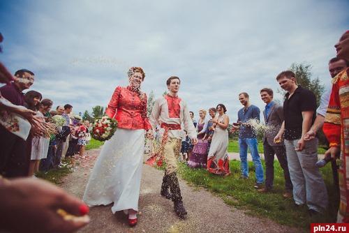 Свадьба в стиле русско-народном стиле