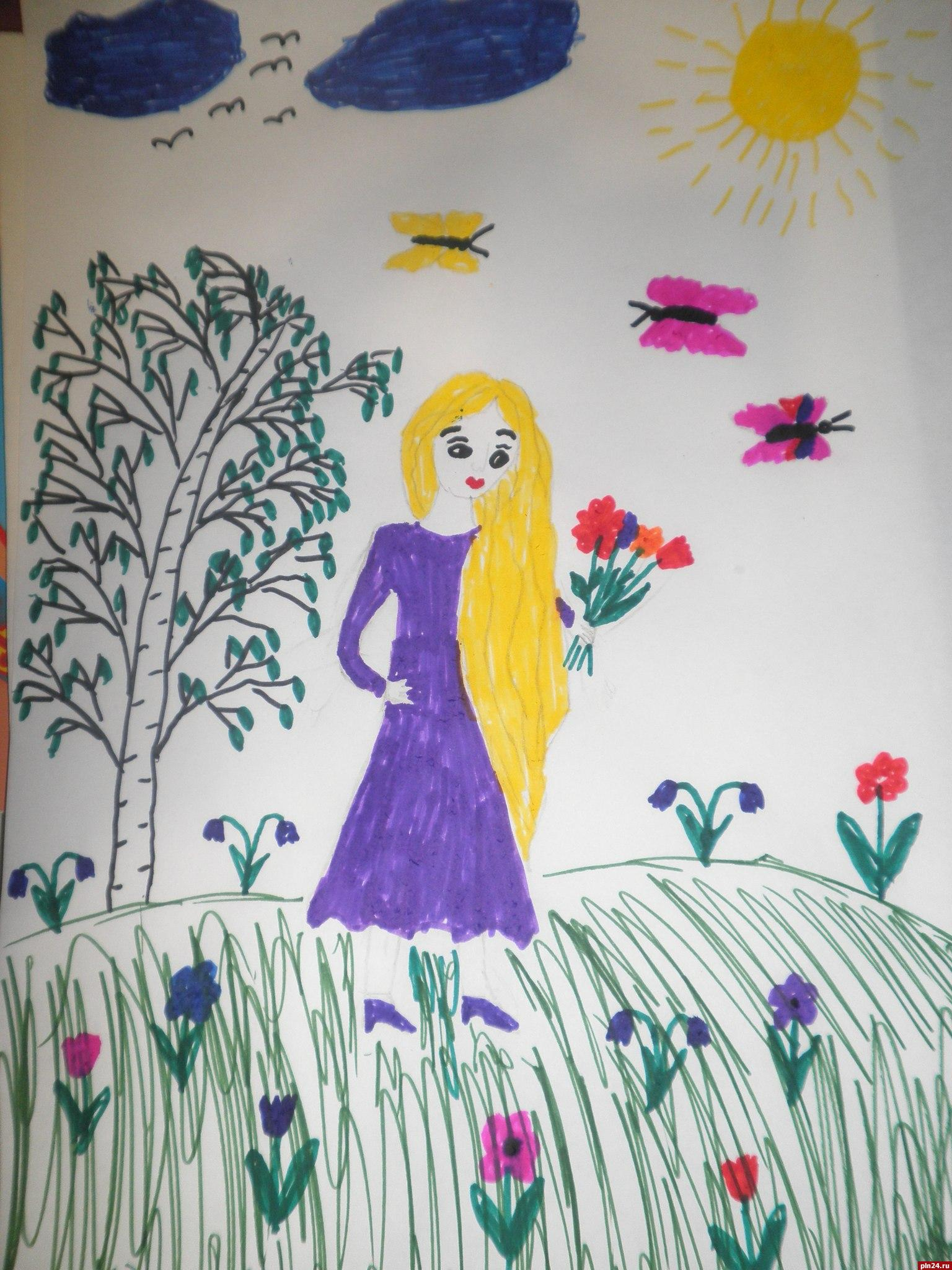 Конкурс рисунков ко дню матери в школе