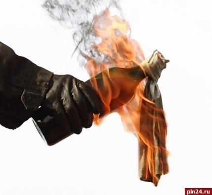 Двое братьев забаррикадировались изабросали полицию «коктейлями Молотова» под Псковом
