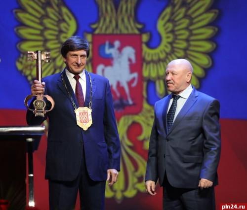 Состоялась церемония инаугурации главы города Великие Луки Николая Козловского