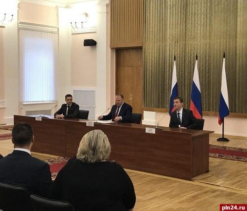 Врио губернатора Псковской области представили здешней  администрации