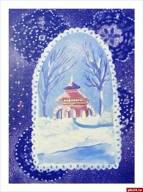 Открытка герои пушкина поздравляют с новым годом