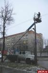 Более 500 ламп уличного освещения заменили за месяц в Пскове