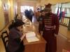 В Пскове проголосовать за президента России пришел стрелец