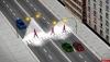 В Пскове начались работы по установке дополнительного освещения над пешеходными переходами