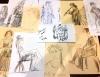 Художник представил посетителей новогодней ярмарки в Пскове в экспресс-рисунках