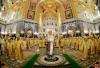 Митрополит Псковский и Порховский Тихон сослужил патриарху Кириллу за литургией в храме Христа Спасителя в Москве