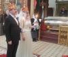 Известный режиссер Дмитрий Месхиев обвенчался с супругой Илоной в Троицком соборе в Пскове