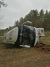 Стали известны подробности о состоянии пассажиров автобуса, перевернувшегося в Печорском районе