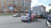 У перекрестка Юбилейной и Рижского проспекта в Пскове столкнулись легковушка и фура