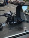 В ДТП на перекрестке Некрасова и Октябрьского проспекта серьезно пострадал мотоциклист. ФОТО