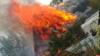 У Крестовского шоссе в Пскове горит дом