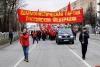 В Пскове состоялось шествие в честь 102-й годовщины Октябрьской революции. ФОТО