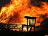 В сгоревшем нежилом доме в Острове обнаружили труп мужчины