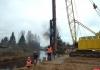 В основание нового моста через реку Кебь в Псковском районе установлены сваи