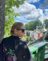 Татьяна Навка посетила Псково-Печерский монастырь. ФОТО
