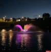 Появилось видео тестового запуска нового фонтана в Мирожском дендропарке