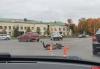 Водитель мопеда пострадал в столкновении на площади Героев-десантников в Пскове