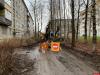 Дорожный ремонт идет на улице Труда в Пскове