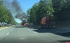 В загоревшемся возле псковского ГИБДД автомобиле находились инструктор и ученик