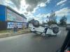 Автомобиль перевернулся на крышу в Великих Луках. ВИДЕО