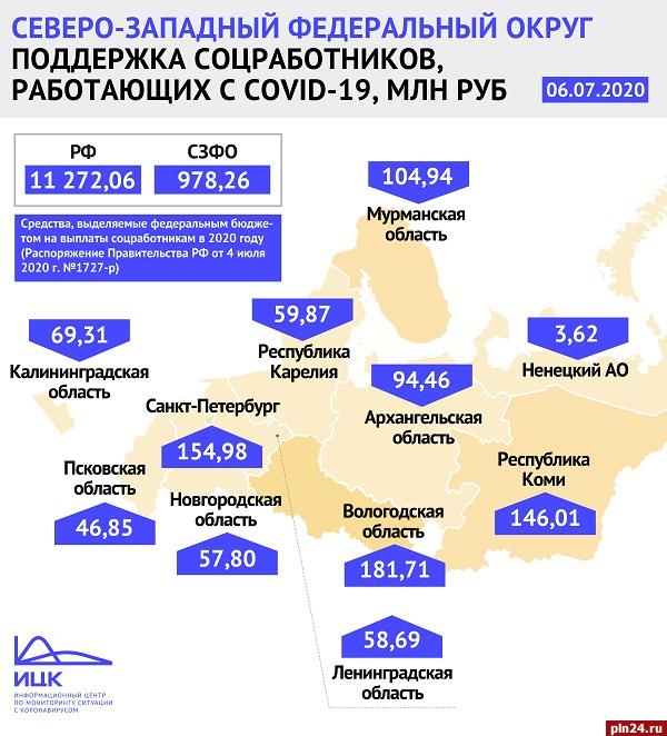 В условиях коронавируса Псковская область на выплаты соцработникам получит около 47 млн рублей, фото-1